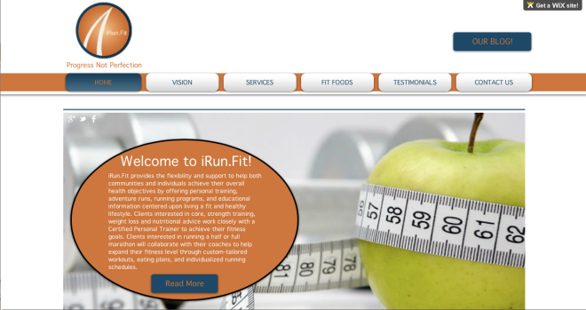 iRun.Fit Homepage