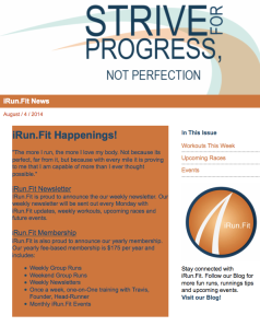 iRn.Fit Newsletter